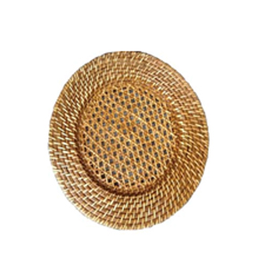Round Rattan Chargers Plates
