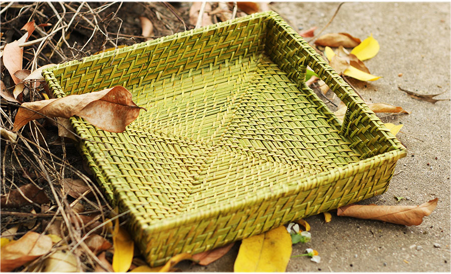 Square Bamboo Rattan Trays