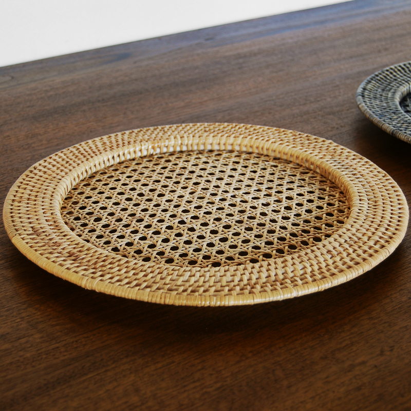 Round Rattan table mats D33xH2cm (Full Rattan)