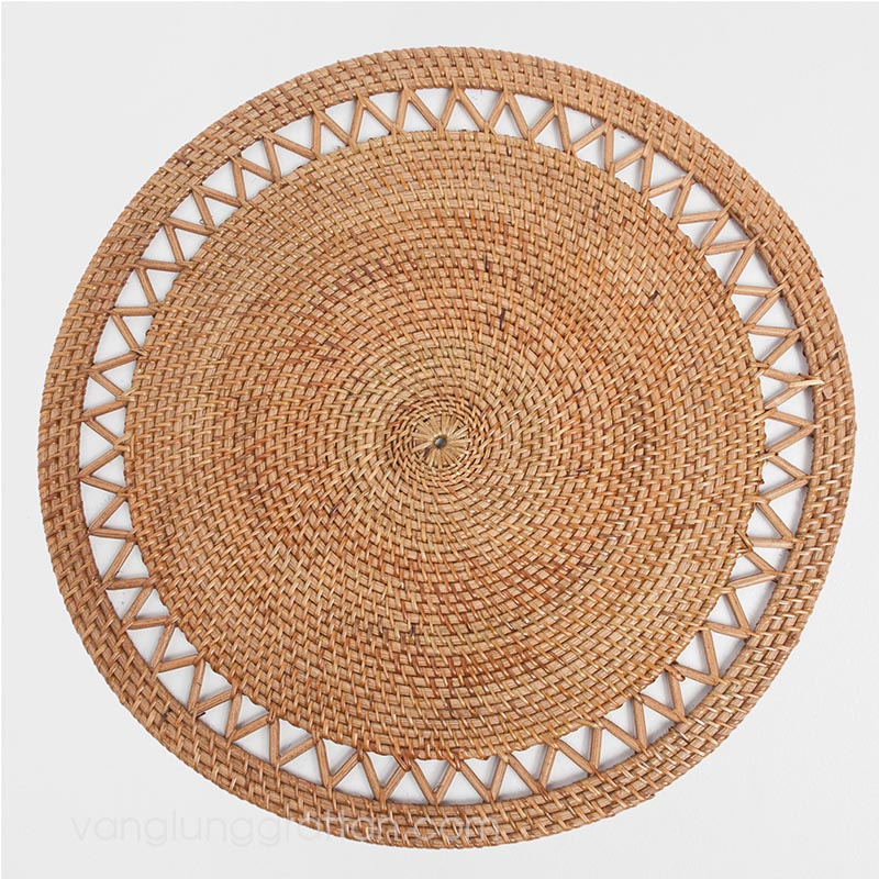 Bamboo Rattan Placemat Napkin Rings Charger Plate