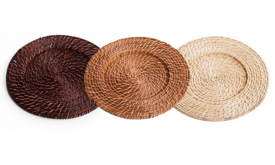Cheap Bamboo Rattan Charger Plate