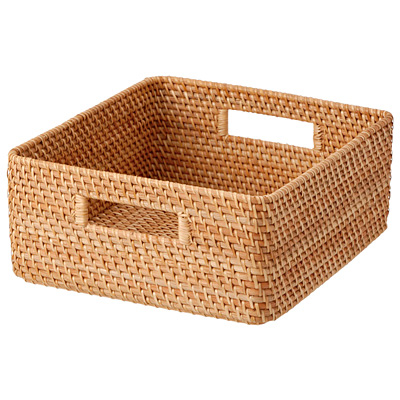 Natural rattan fruit basket and bread storage