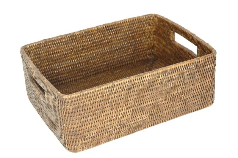 New Design Office Living Room Storage Basket Colorful Rattan Hanging Storage Basket