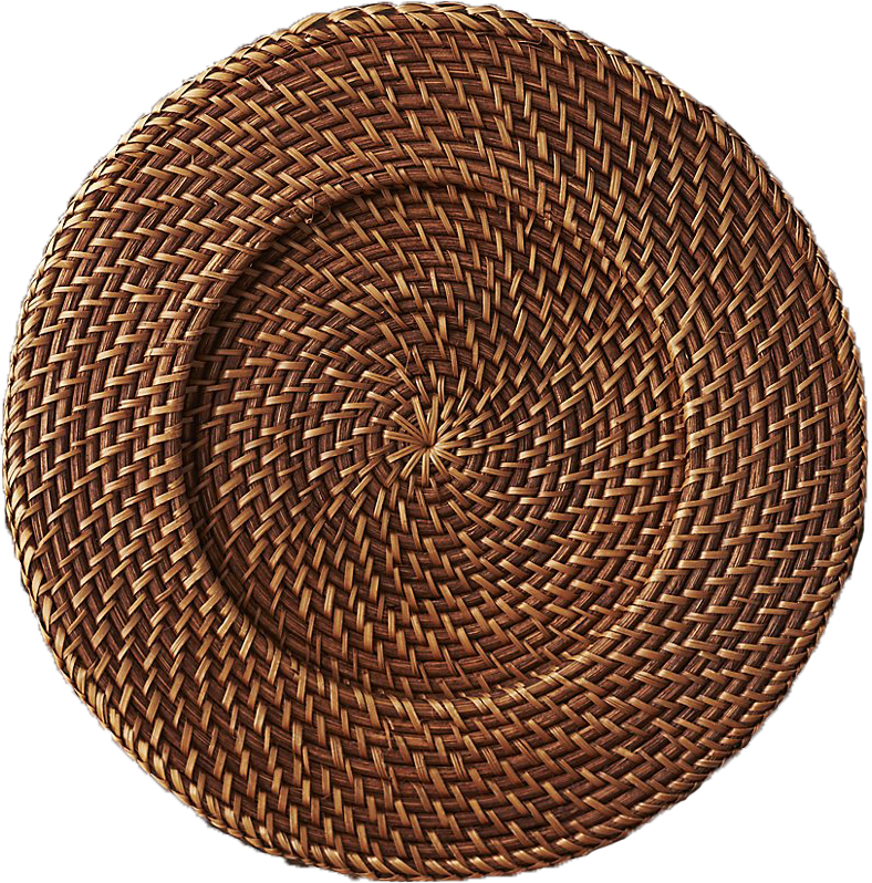 Full Rattan Round Charger Plates - S1051-F1