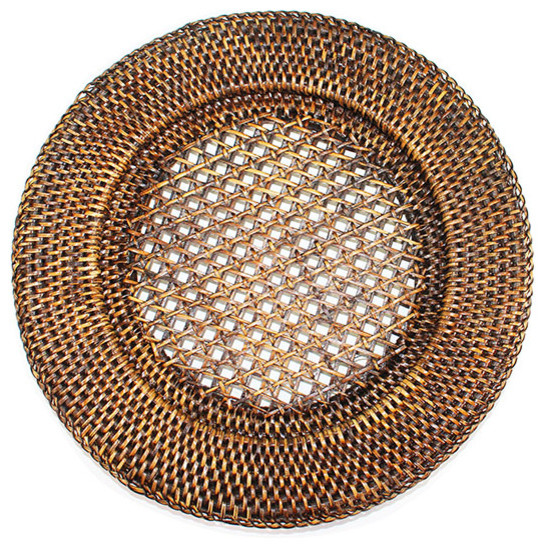 FULL RATTAN ROUND CHARGER PLATES - S1051-1