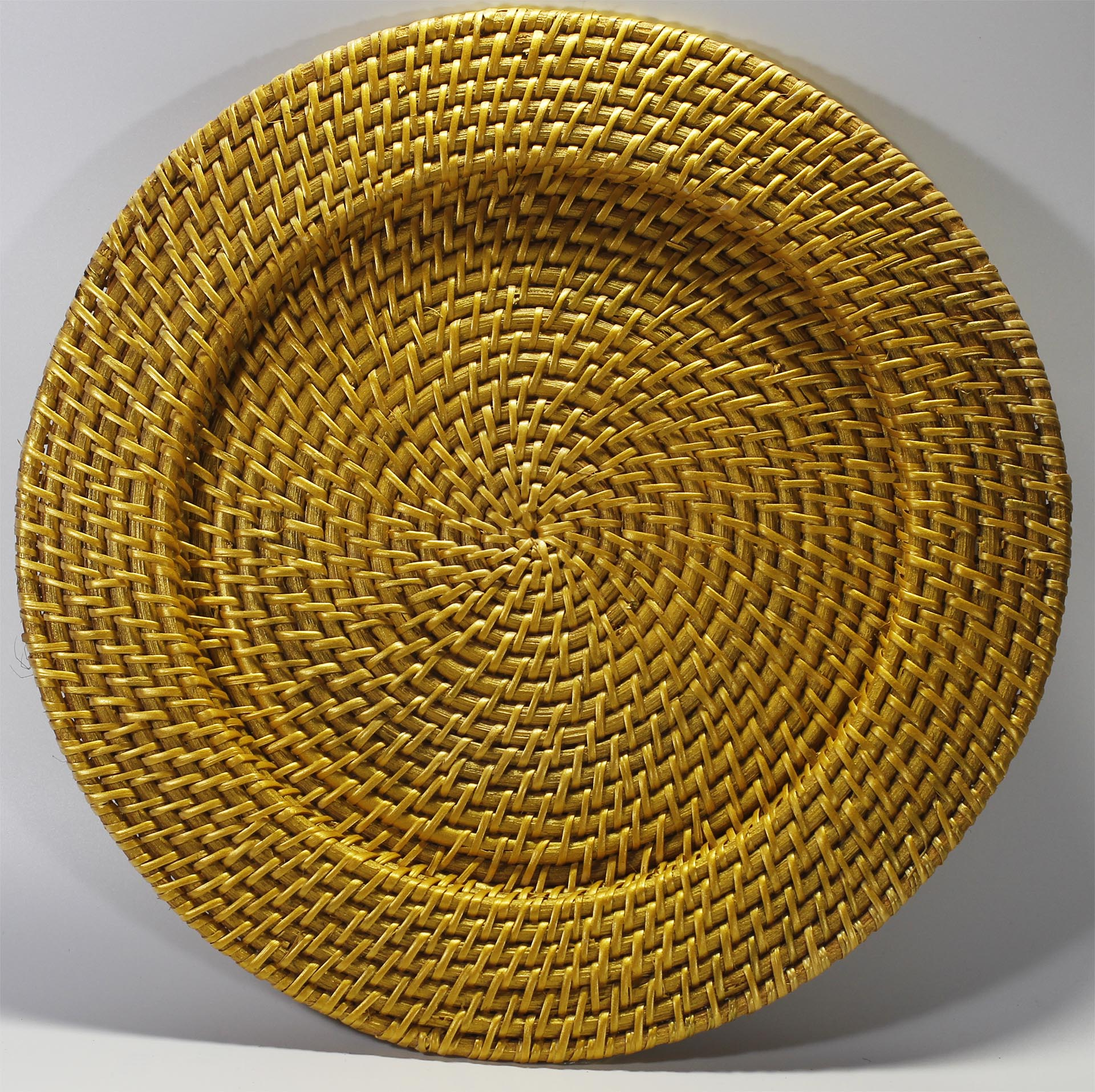 Gold Rattan Charger Plates